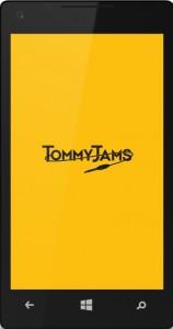 Tommy Jams mobile app