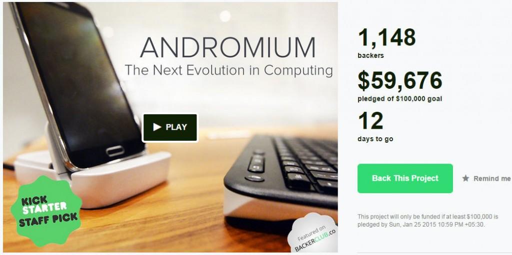 andromium Kickstarter