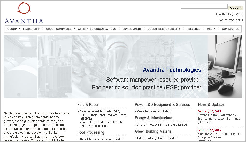 avantha group website