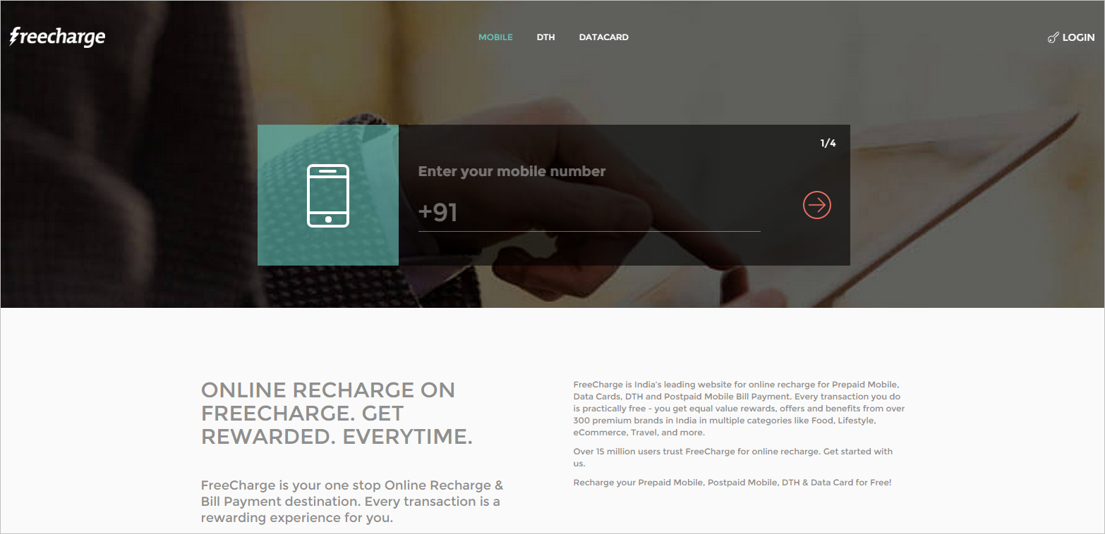 Freecharge-Website