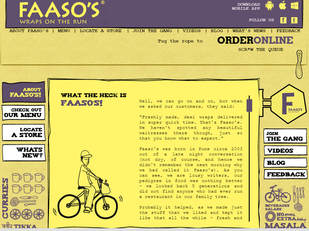 faasos website