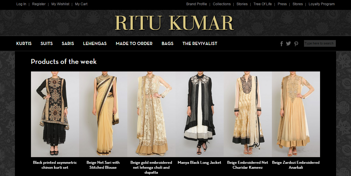Ritu Kumar Website