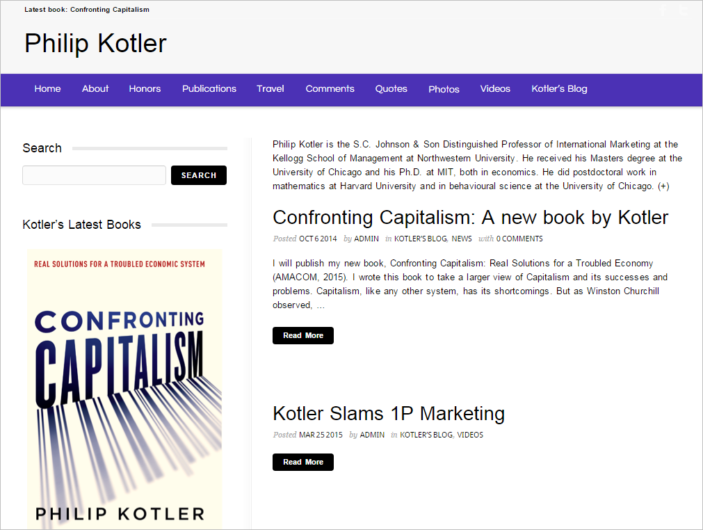 Philip Kotler website
