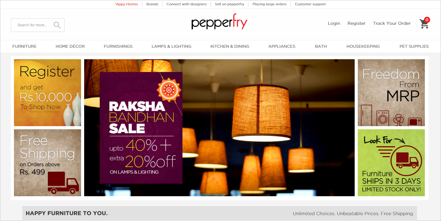 website pepperfry