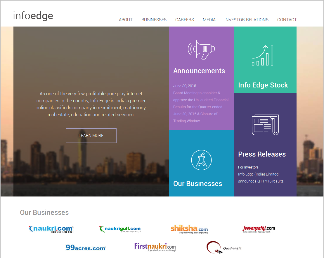 Info Edge Website