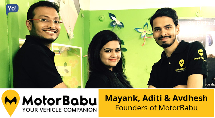 Interview With :   Mayank, Aditi & Avdhesh, Founders of MotorBabu