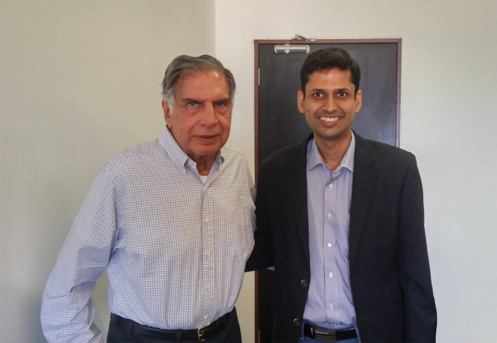 RatanTata with Rahul Garg, Founder and CEO, Moglix