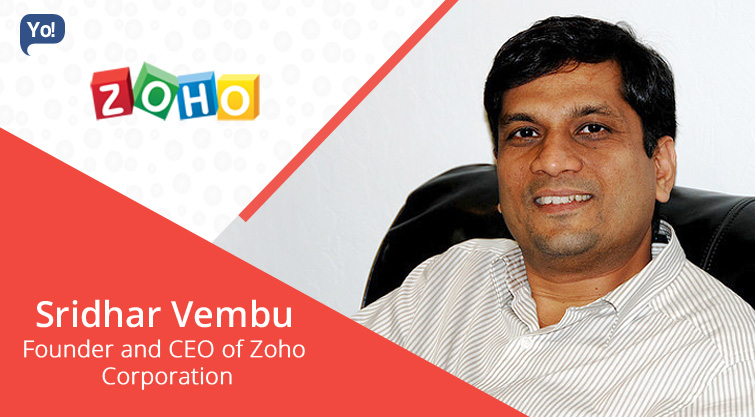 Interview With :    Sridhar Vembu, Founder & CEO of Zoho Corporation